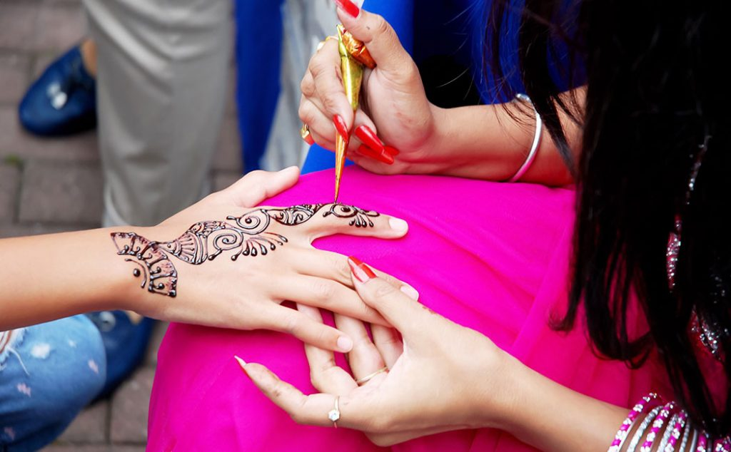 Henna Tattoo placement