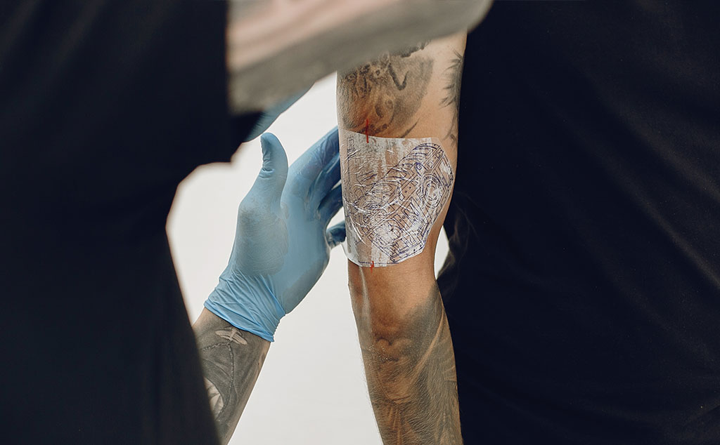 use the tattoo transfer paper